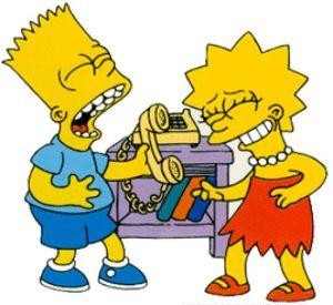 Bart and Lisa Prank Call