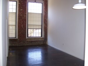 And this is another view of the living room. It felt like such a big place. Definitely had plenty of room for my crap.