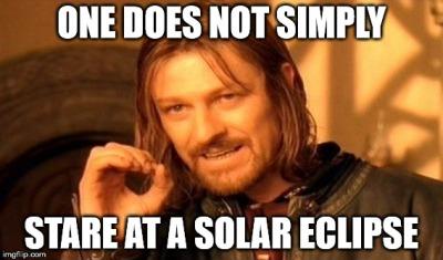 Solar Eclipse - Don't Stare