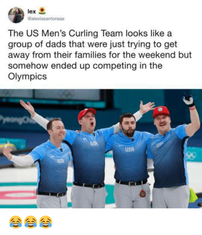 Men's Curling Team Meme